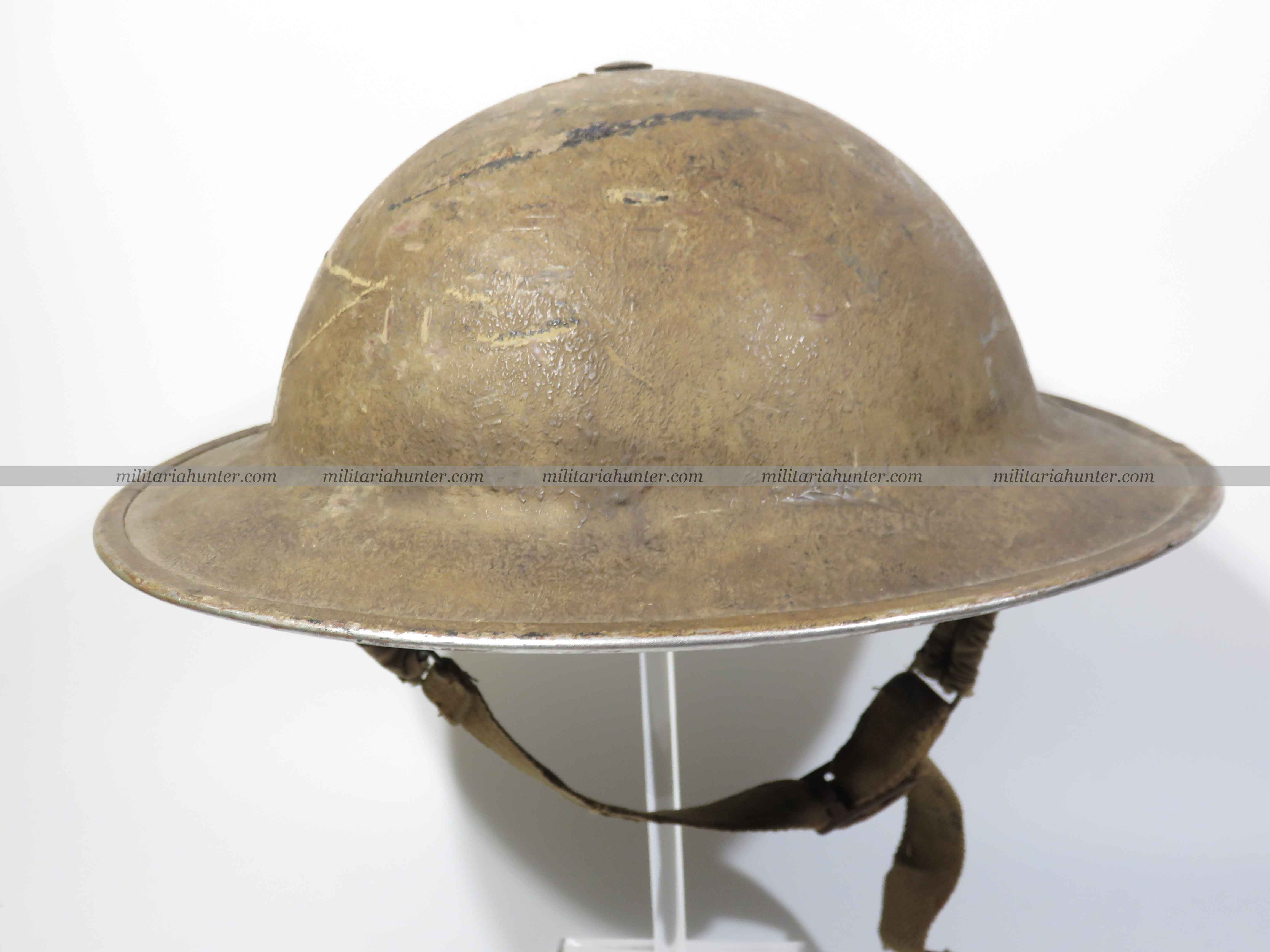 militaria : ww2 South African MkII helmet sand finish / casque sud africain
