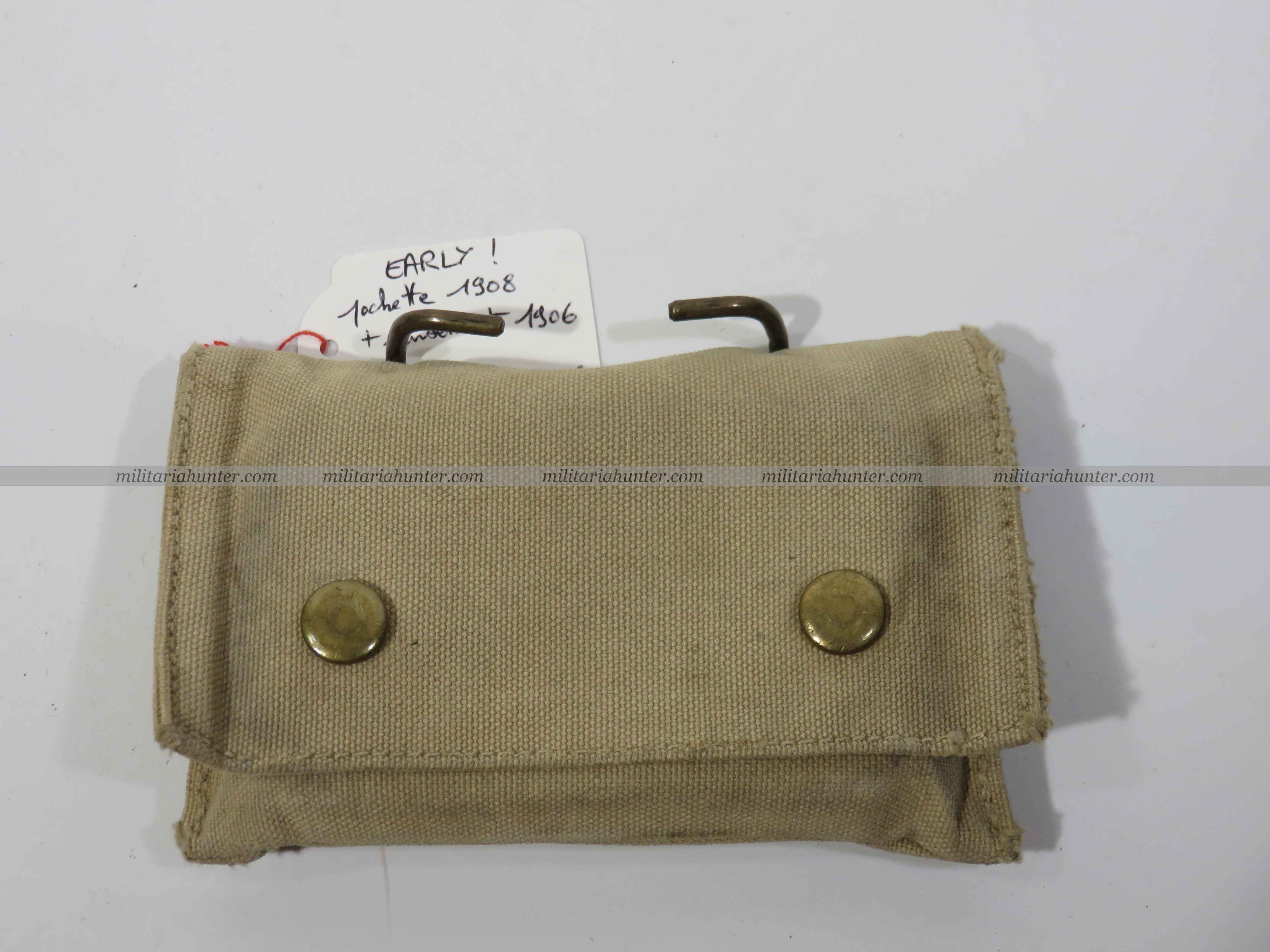 militaria : US ww1 early- rare pansement 1906 dans pochette 1908