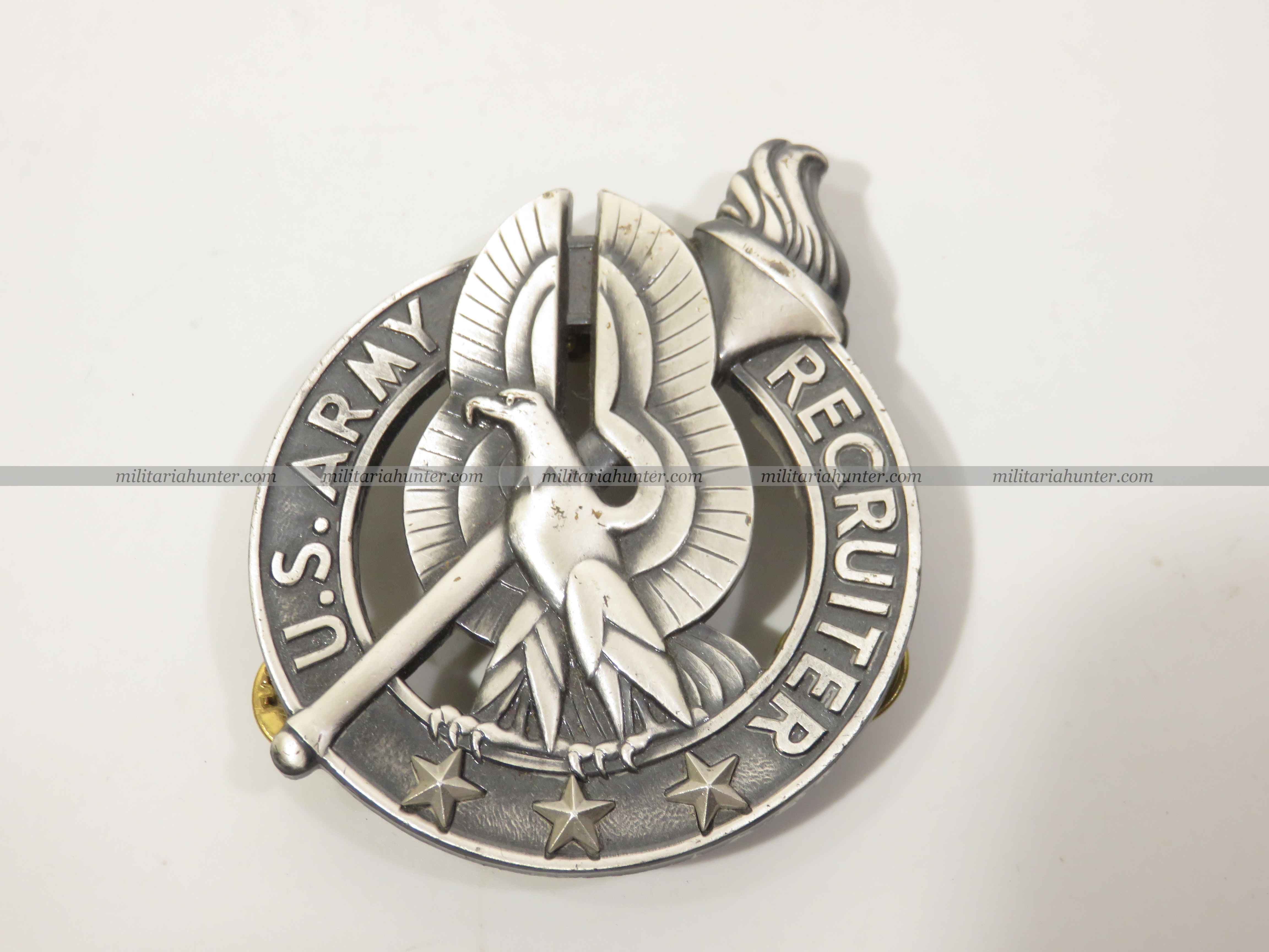 militaria : US modern Army Recruiter badge - badge de recruteur US Army
