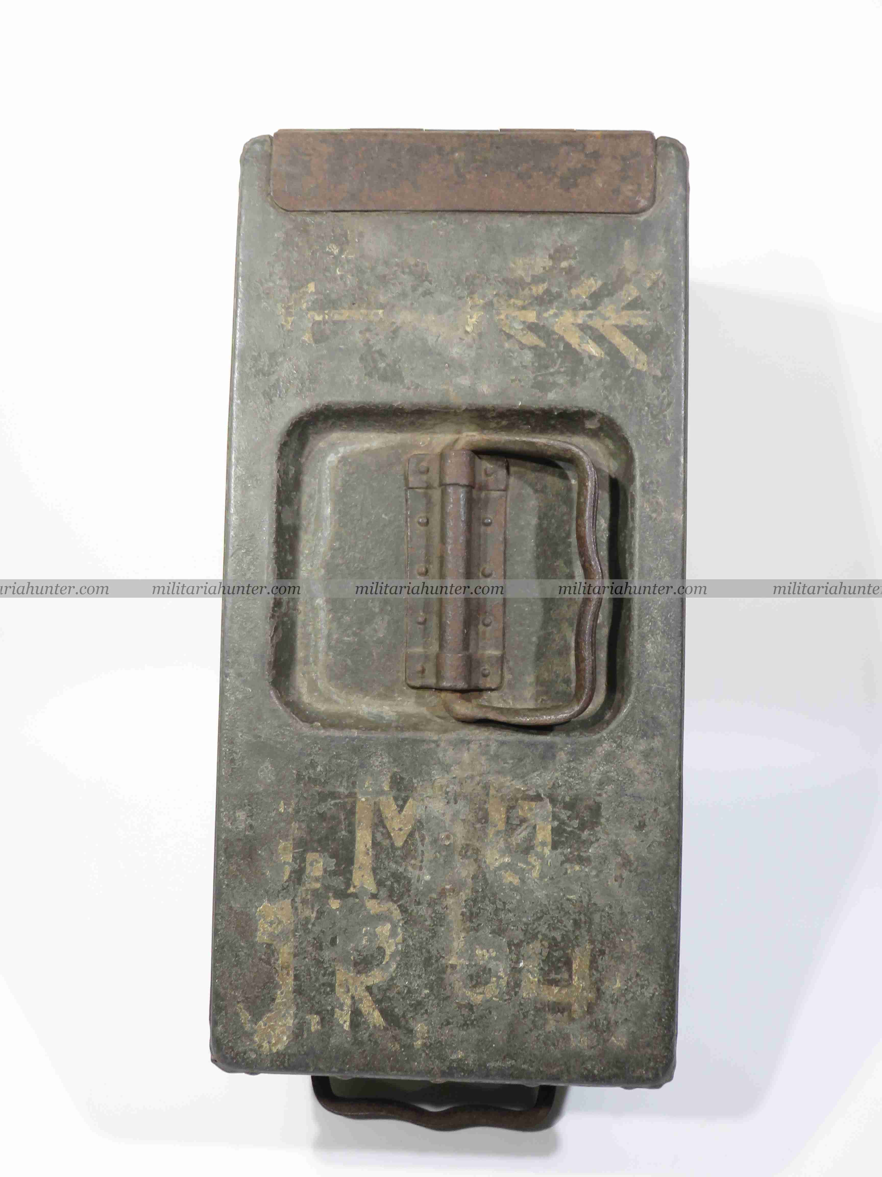 militaria : ww1 german MG08/15 ammo box with unit markings