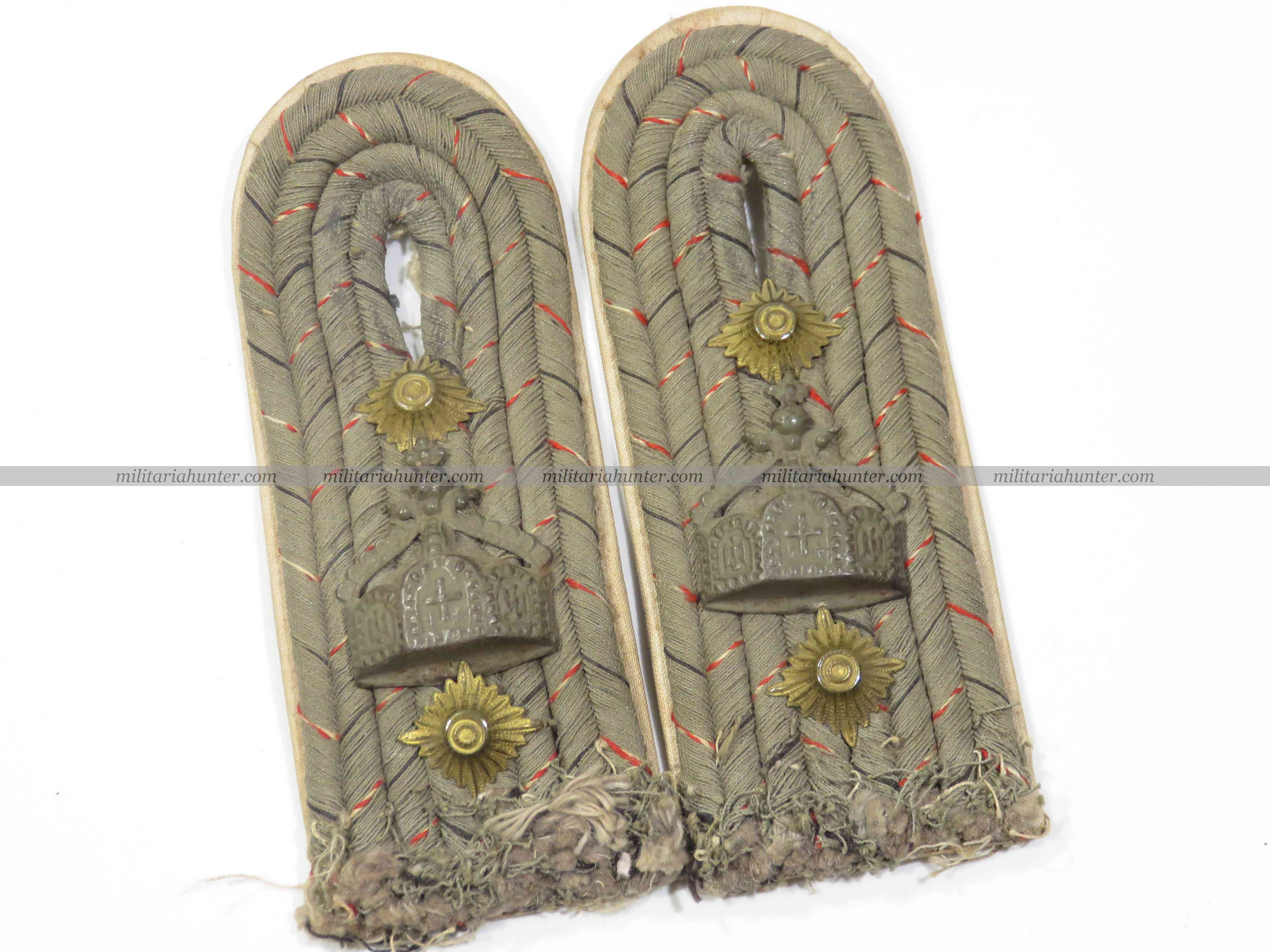 militaria : ww1 german Seebataillon Hauptmann shoulder boards