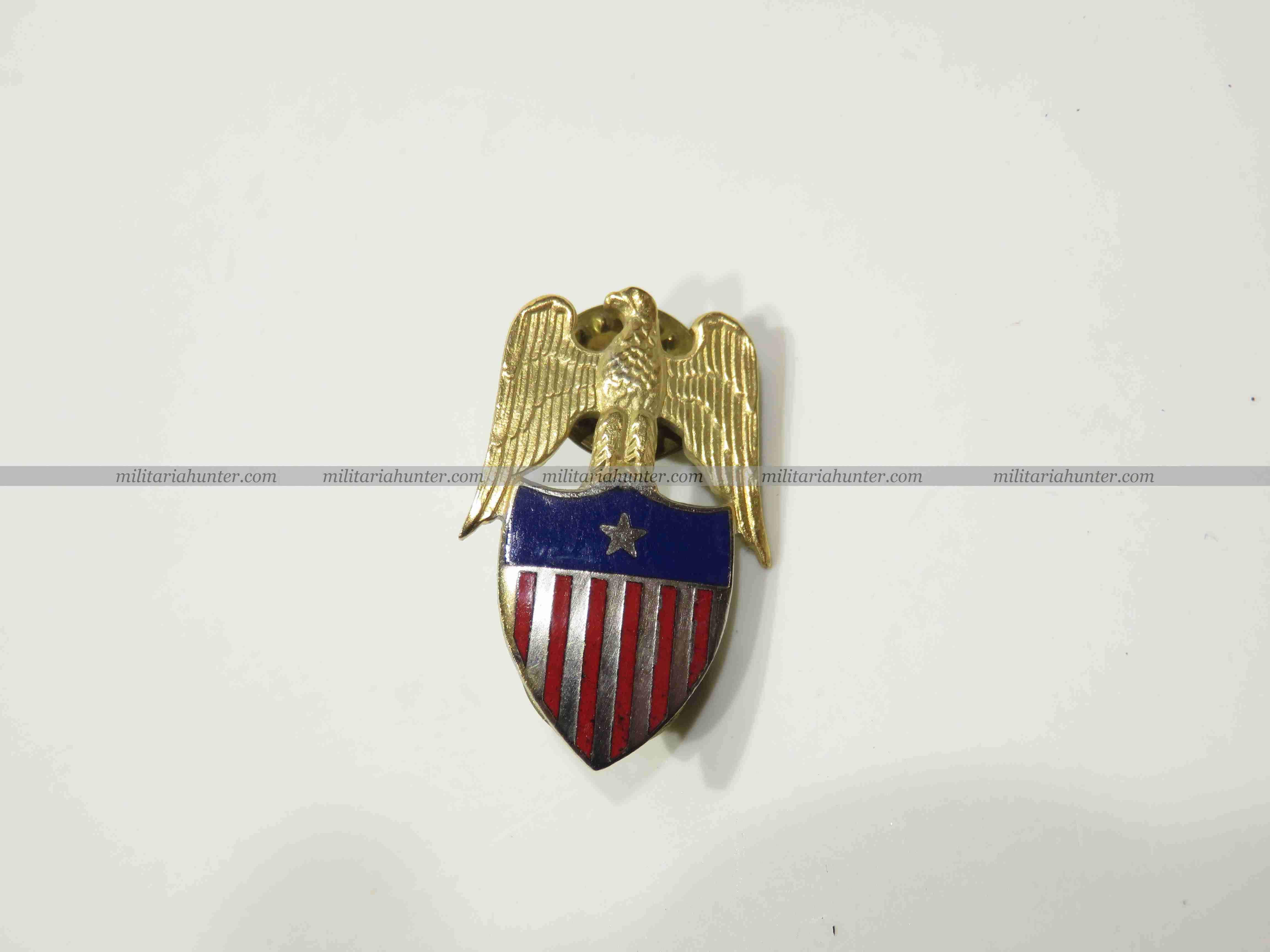 militaria : US Aide to Brigadier General collar badge insignia