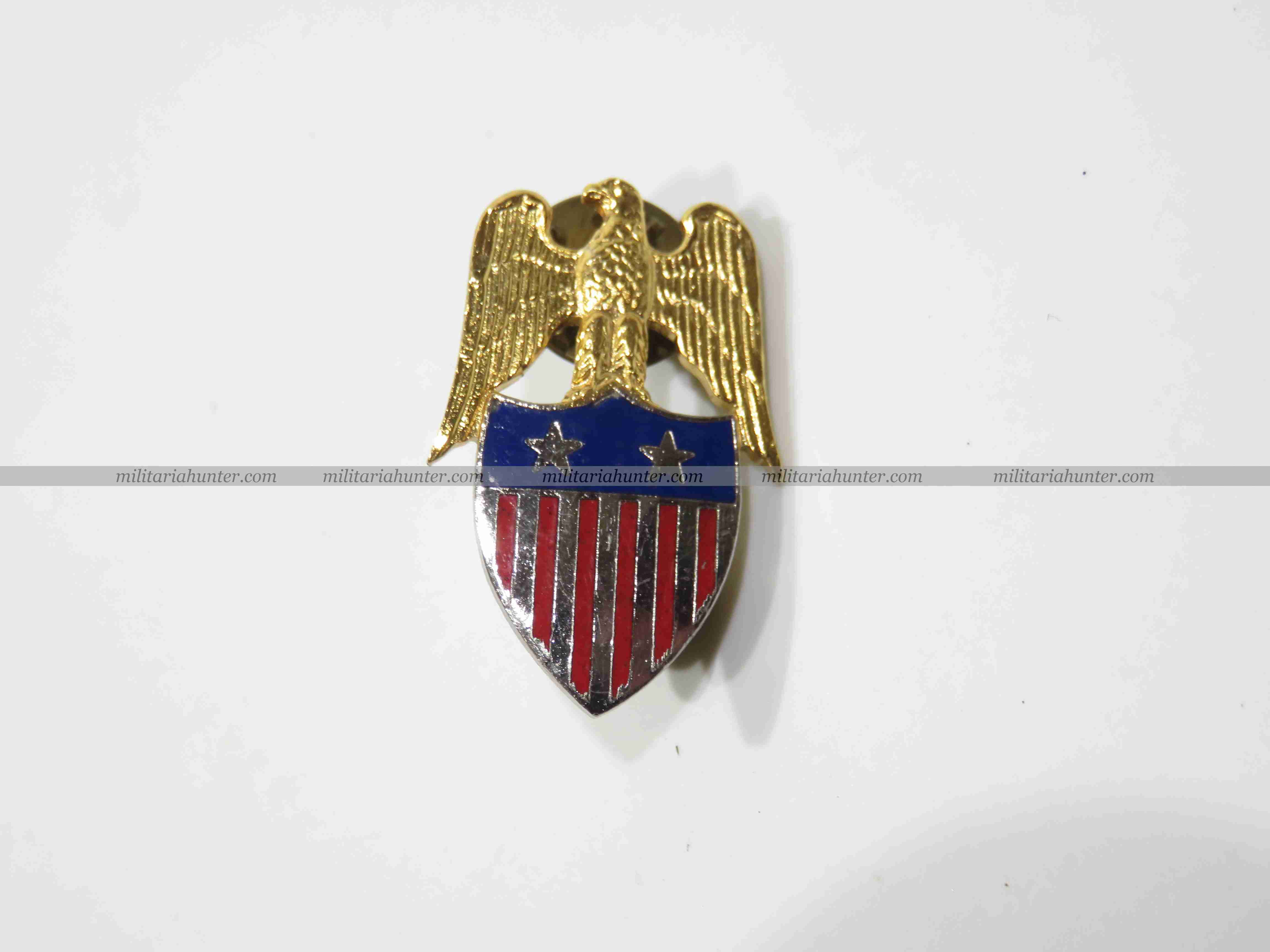 militaria : US Aide to Major General collar badge insignia