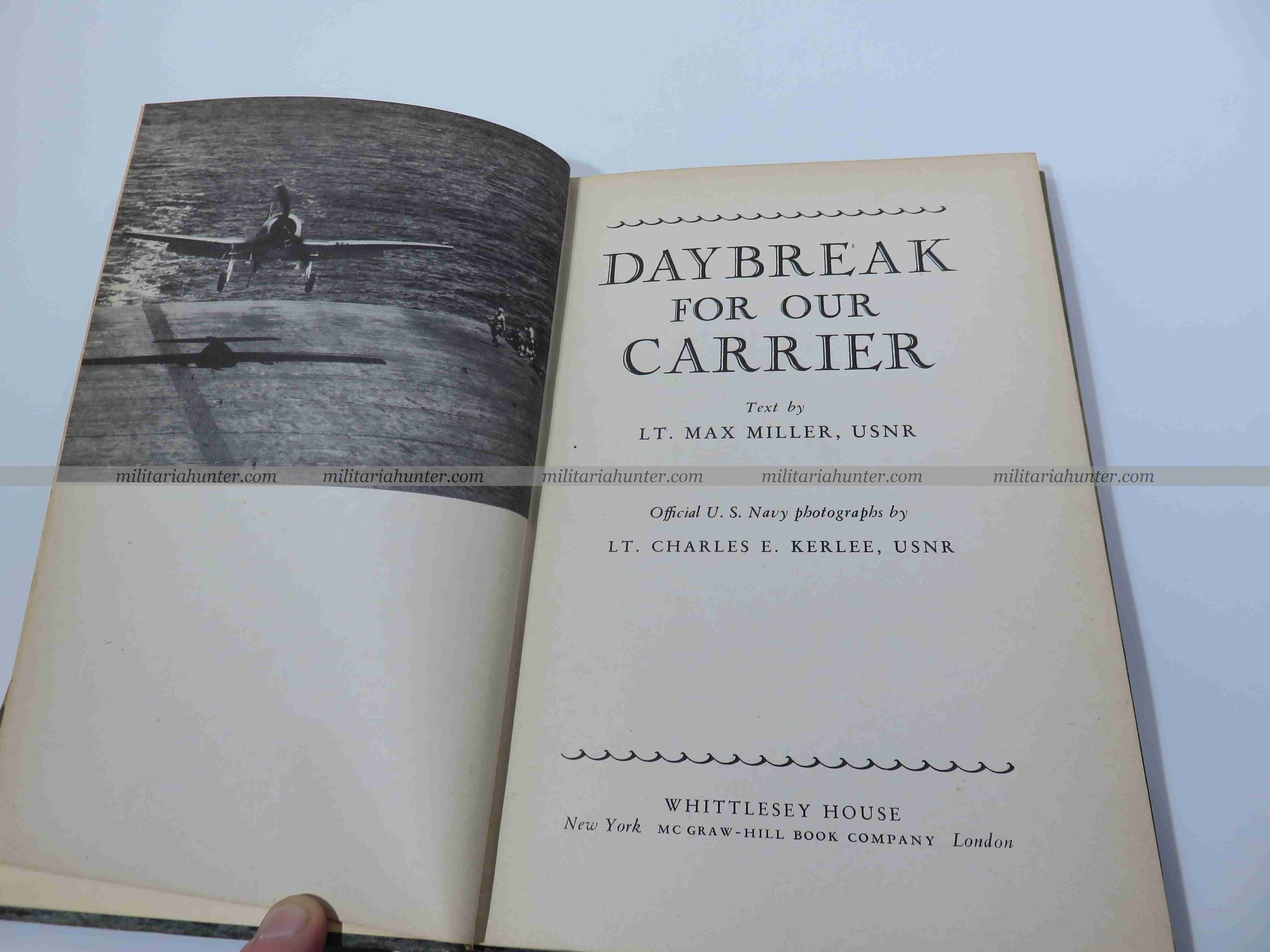 militaria : ww2 Livre Porte Avion US - Daybreak for our carrier by Lt Max Miller