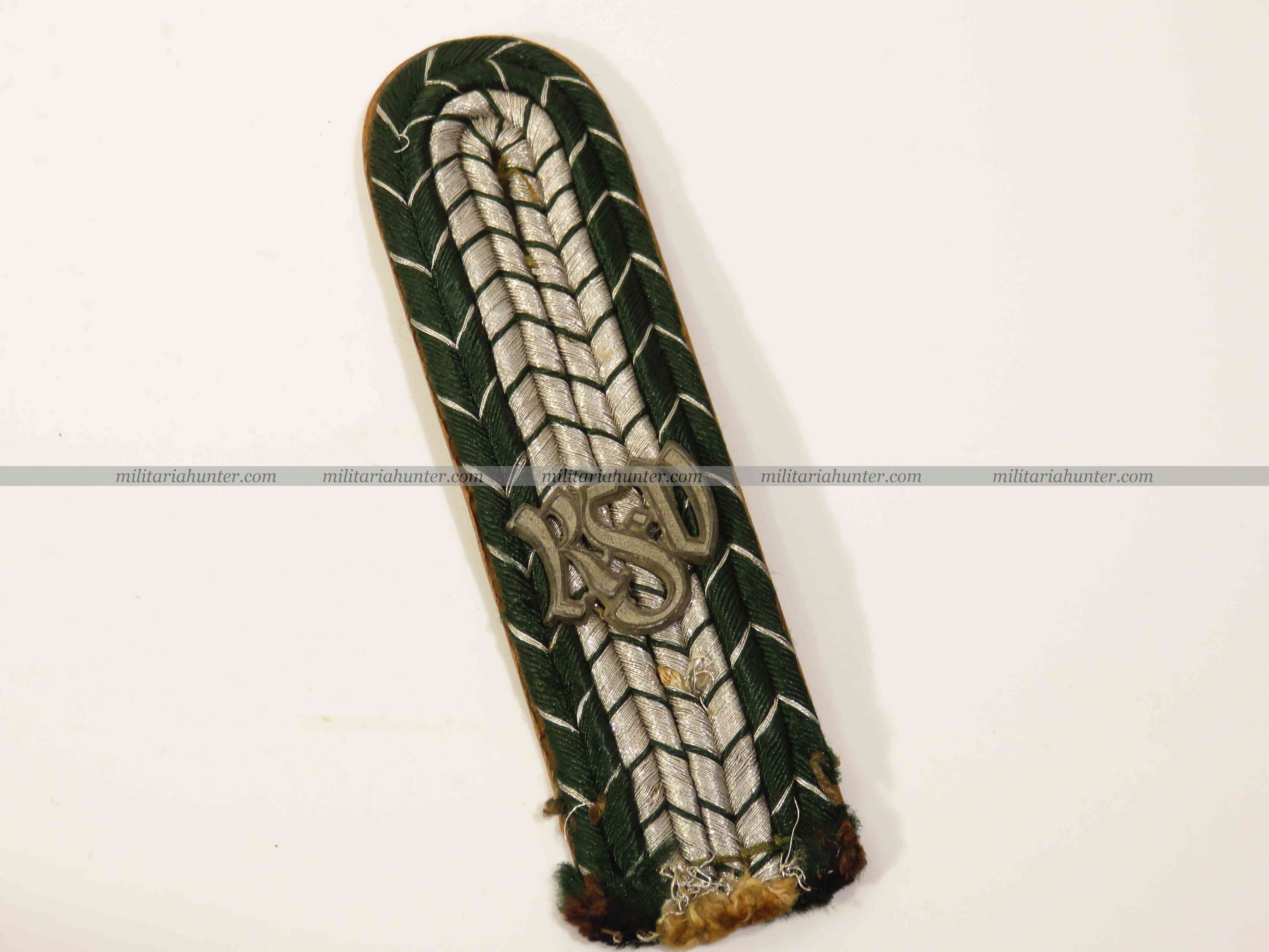 militaria : ww2 german finance administration shoulder board - REICHSFINANZERVERWALTUNG Schu