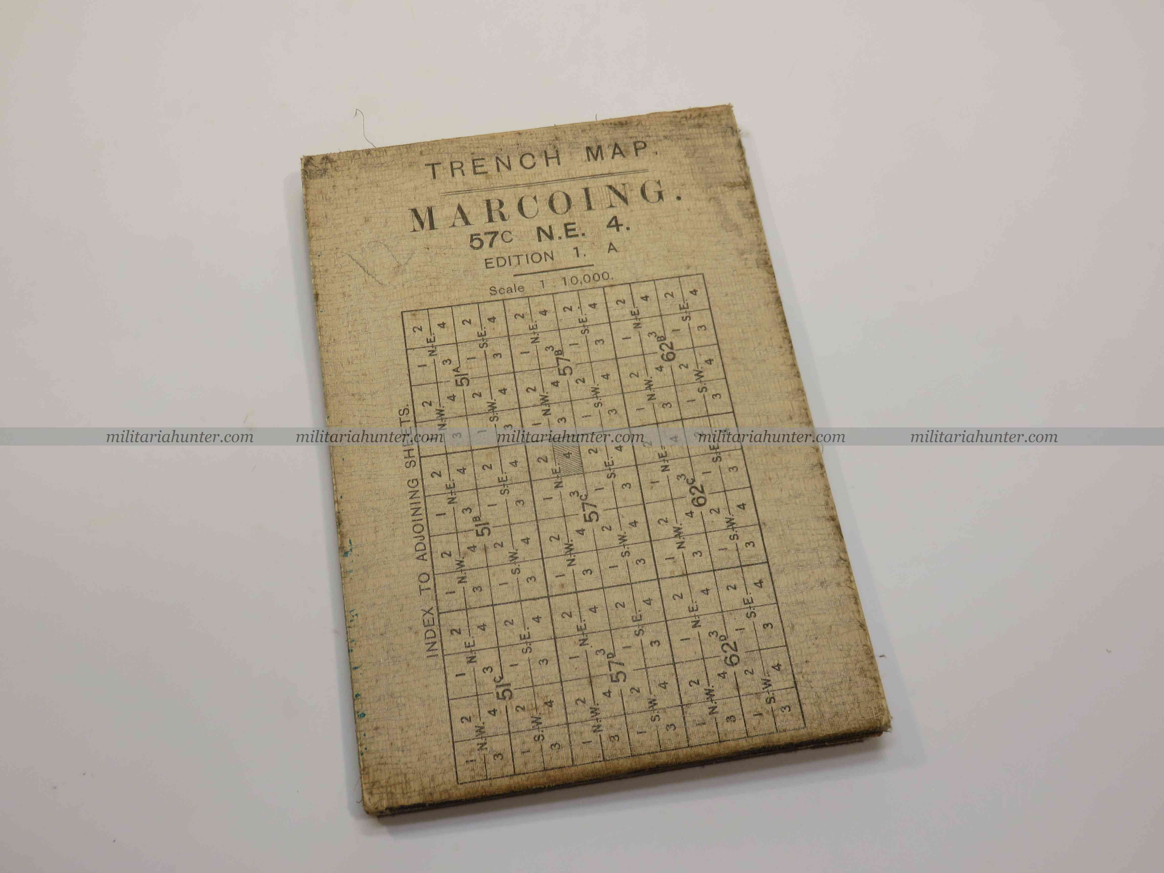 militaria : ww1 1:10000 trench map Marcoing 57C NE4 edition 1A 6 march 1917