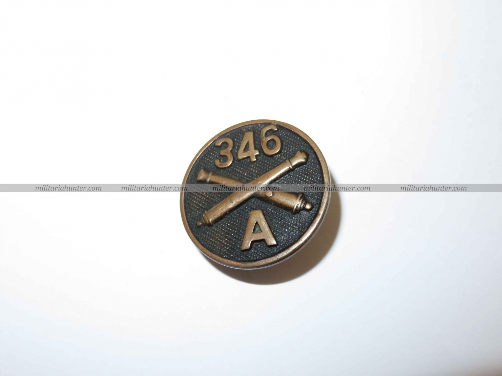 militaria : Collar disc 346th Artillery ww1