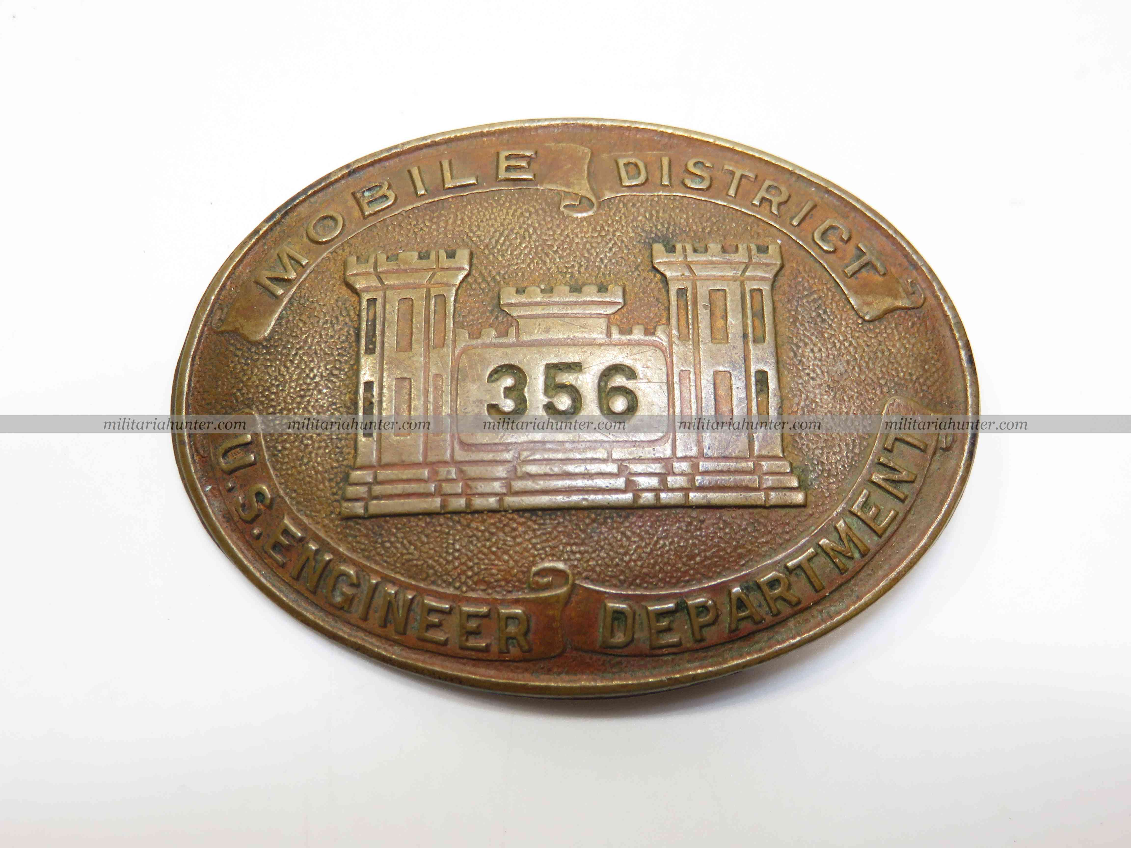 militaria : US ww1 US army engineers mobile district badge