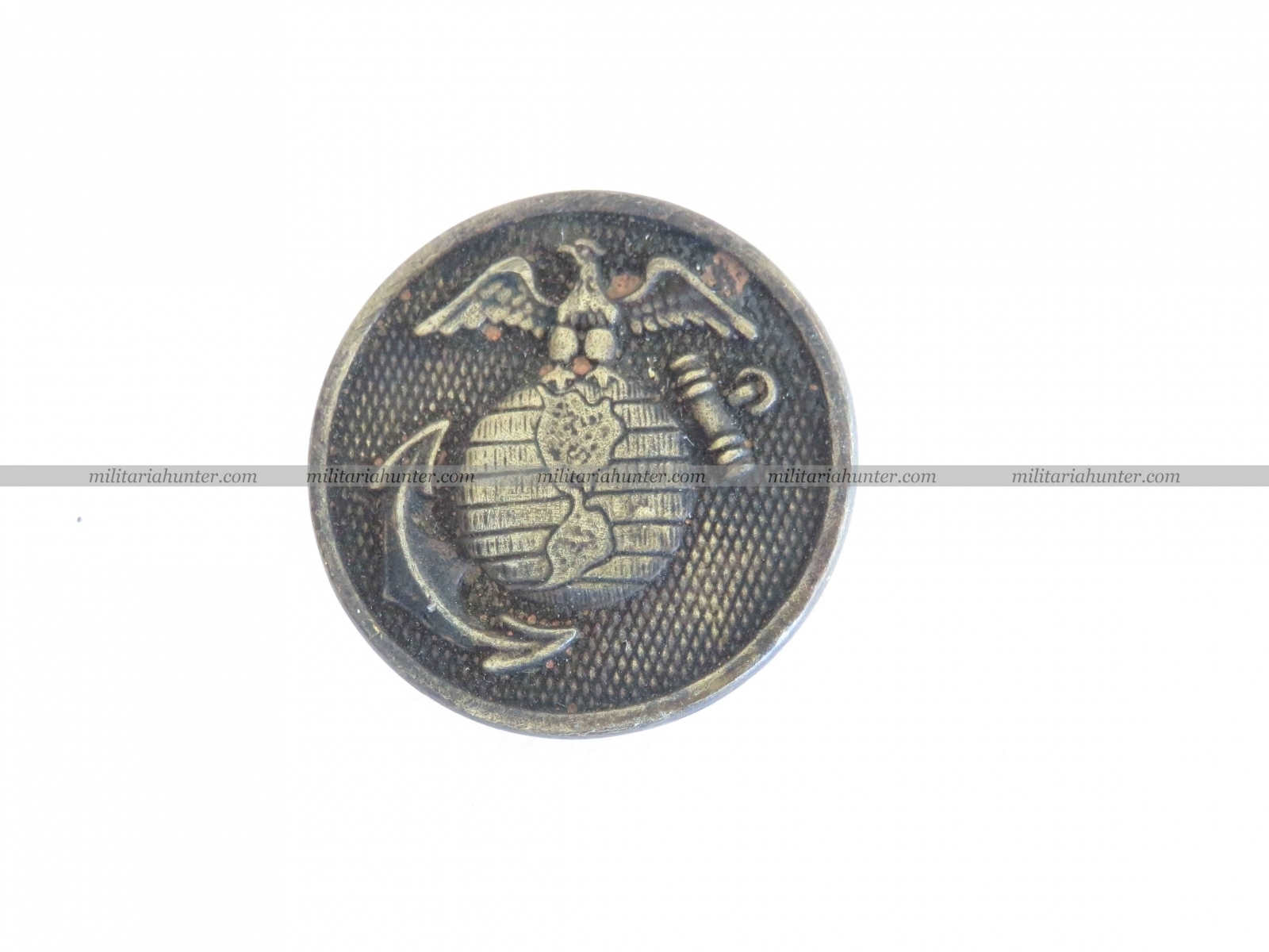 militaria : USMC enlisted collar disc ww1