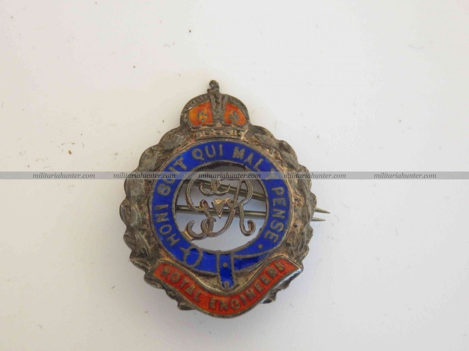 militaria : WW1 Sterling Royal Engineers sweetheart brooch