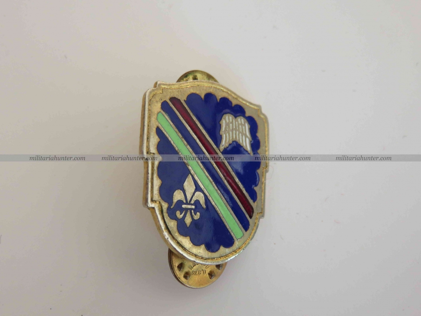 Militaria Hunter - Vente Militaria ww1 ww2 US Army 160th Infantry Regiment crest