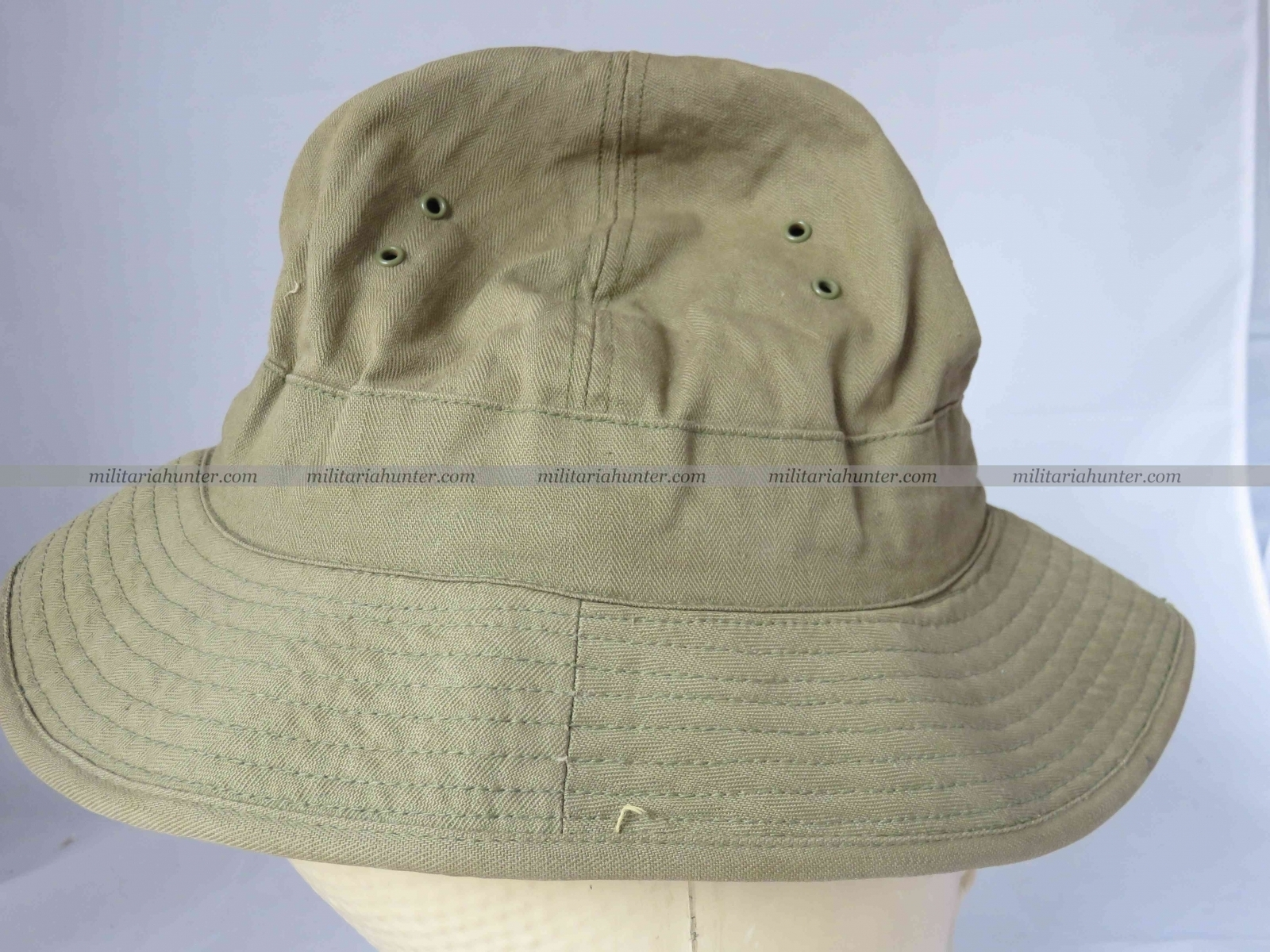 militaria : ON HOLD Us ww2 HBT Boonie Hat / Jungle Hat with laundry number