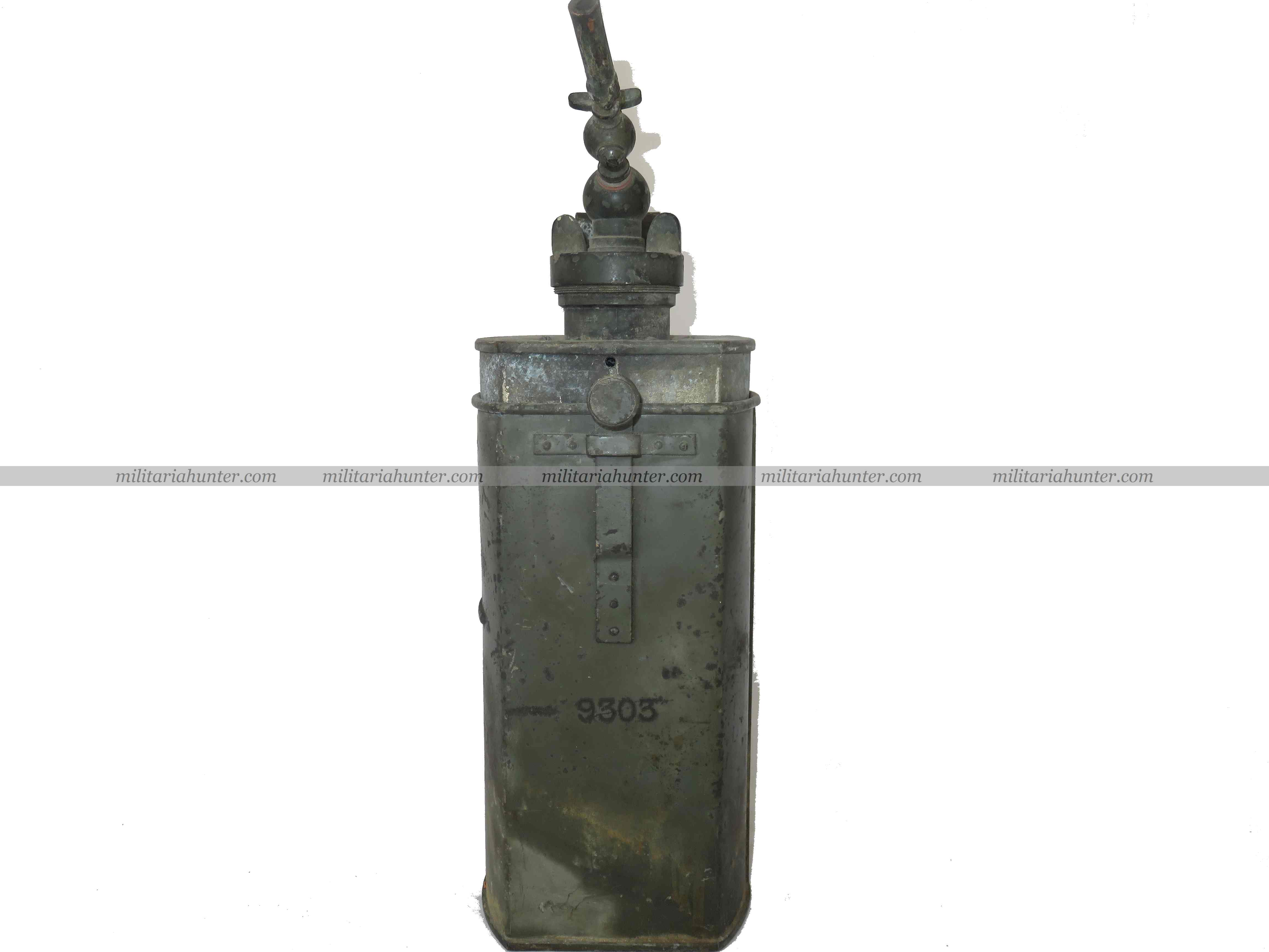 militaria : imperial german fieldgrey Acetylene generator for projector