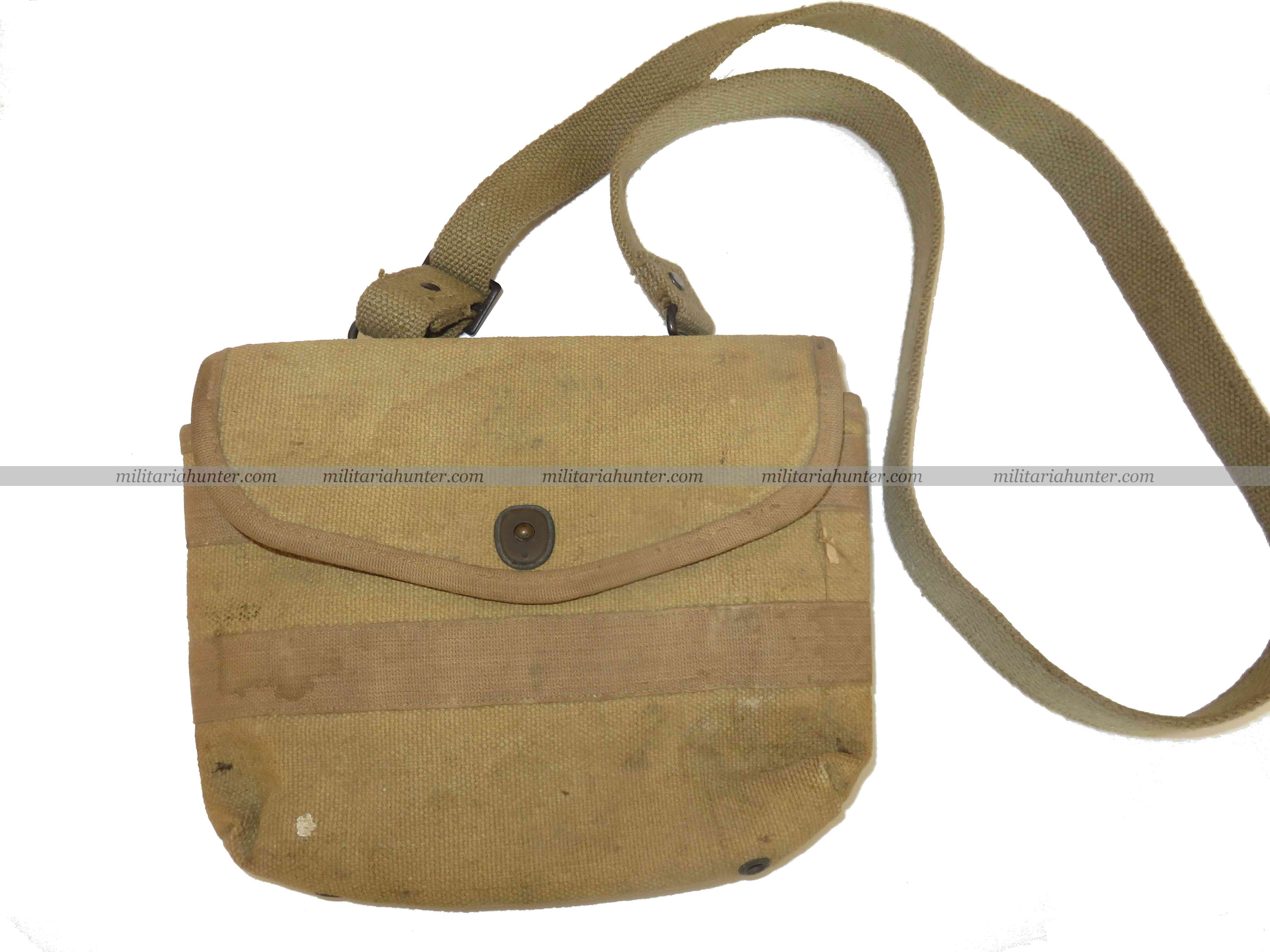 militaria : US ww1 Scarce Original Shotgun ammunition bag M1918 with strap