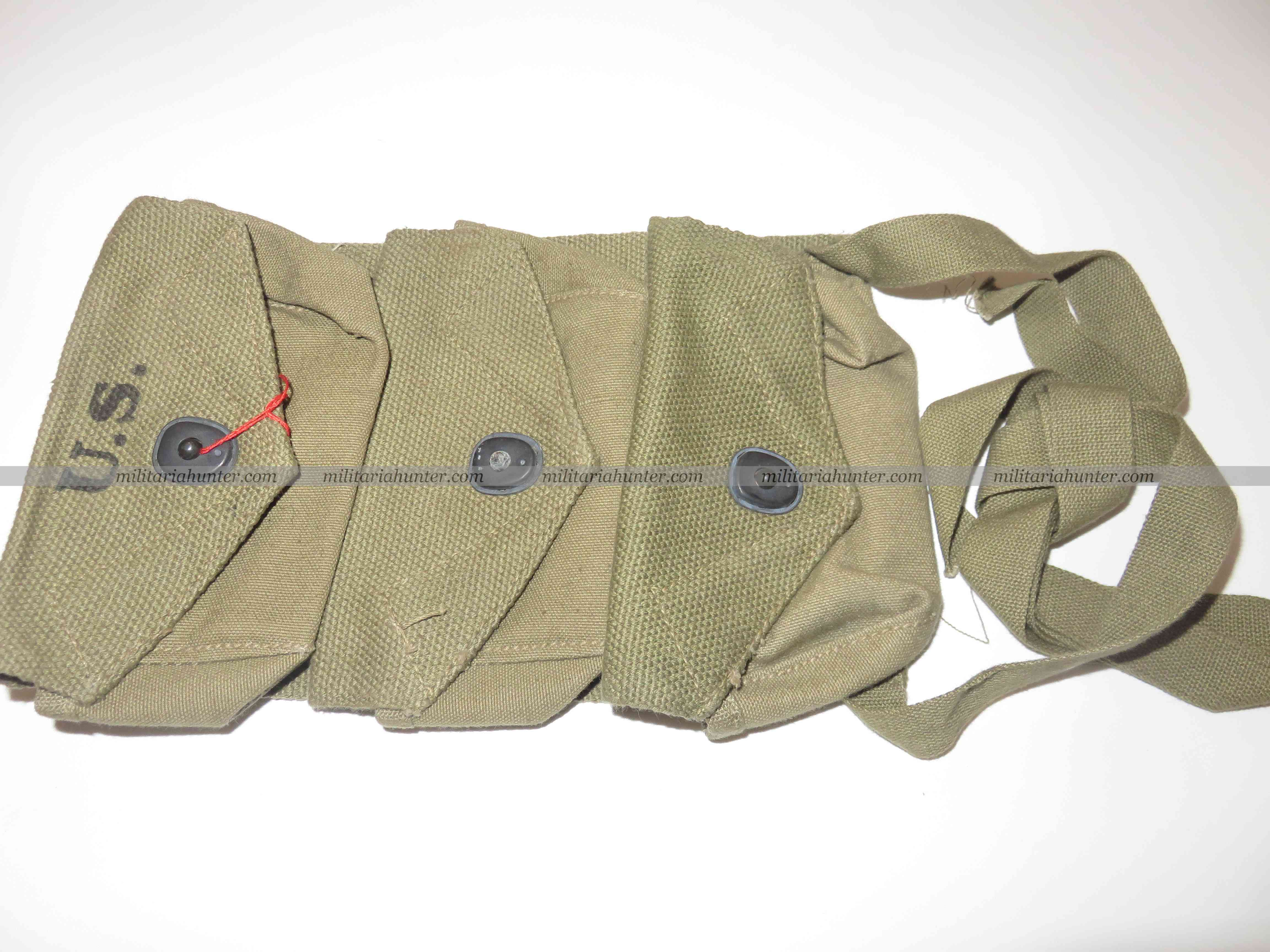 militaria : WW2 Us 3 pockets grenade carrier pouch 1944 - Mint