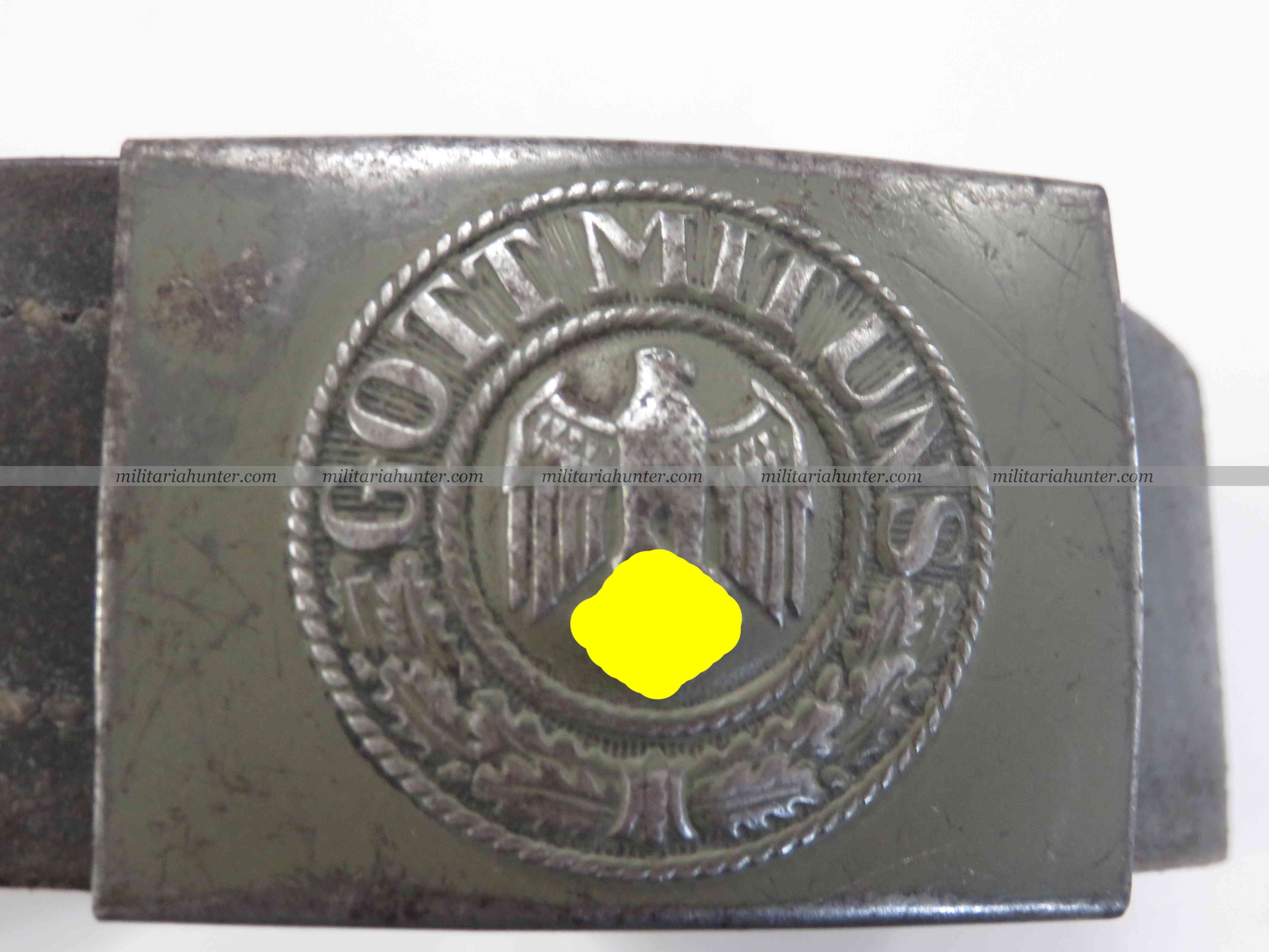 Militaria Hunter   Achat Vente Estimation Militaria ww1 ww2 WW2 german Heer belt and buckle - ceinturon allemand Heer 1940