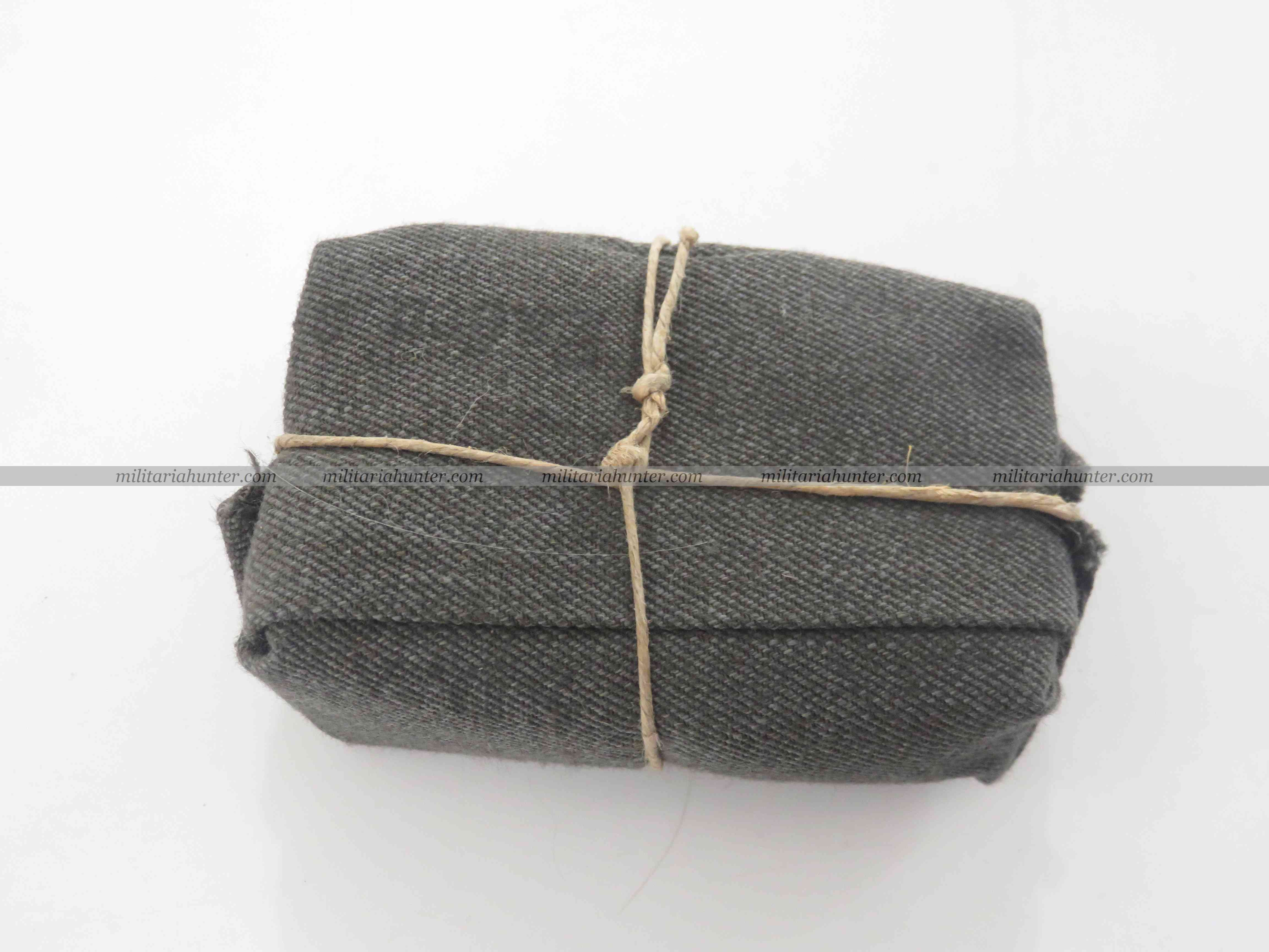 militaria : WW1 pansement allemand feldgrau - field grey german bandage, dressing