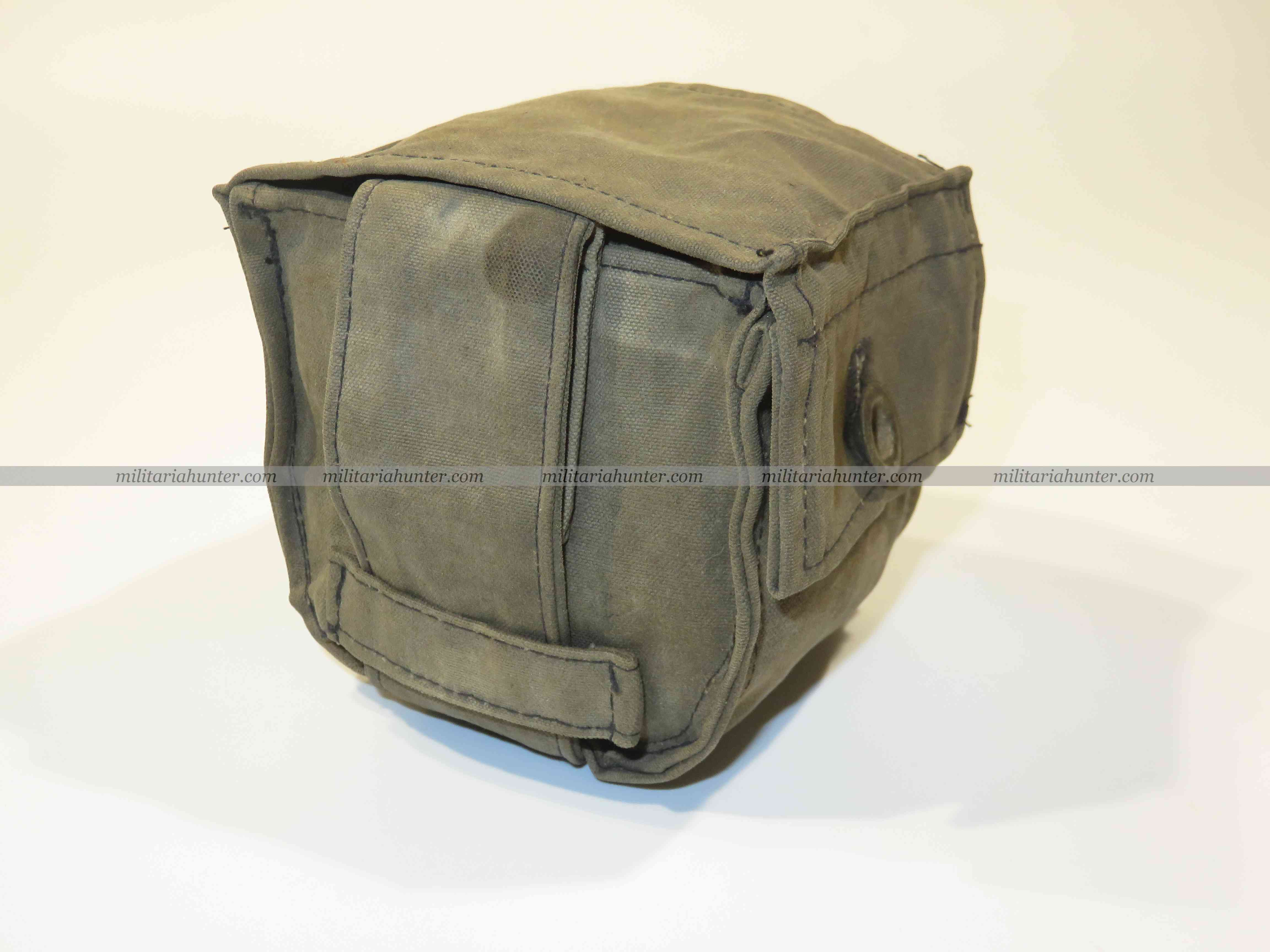 militaria : ww1 german gas mask filter pouch