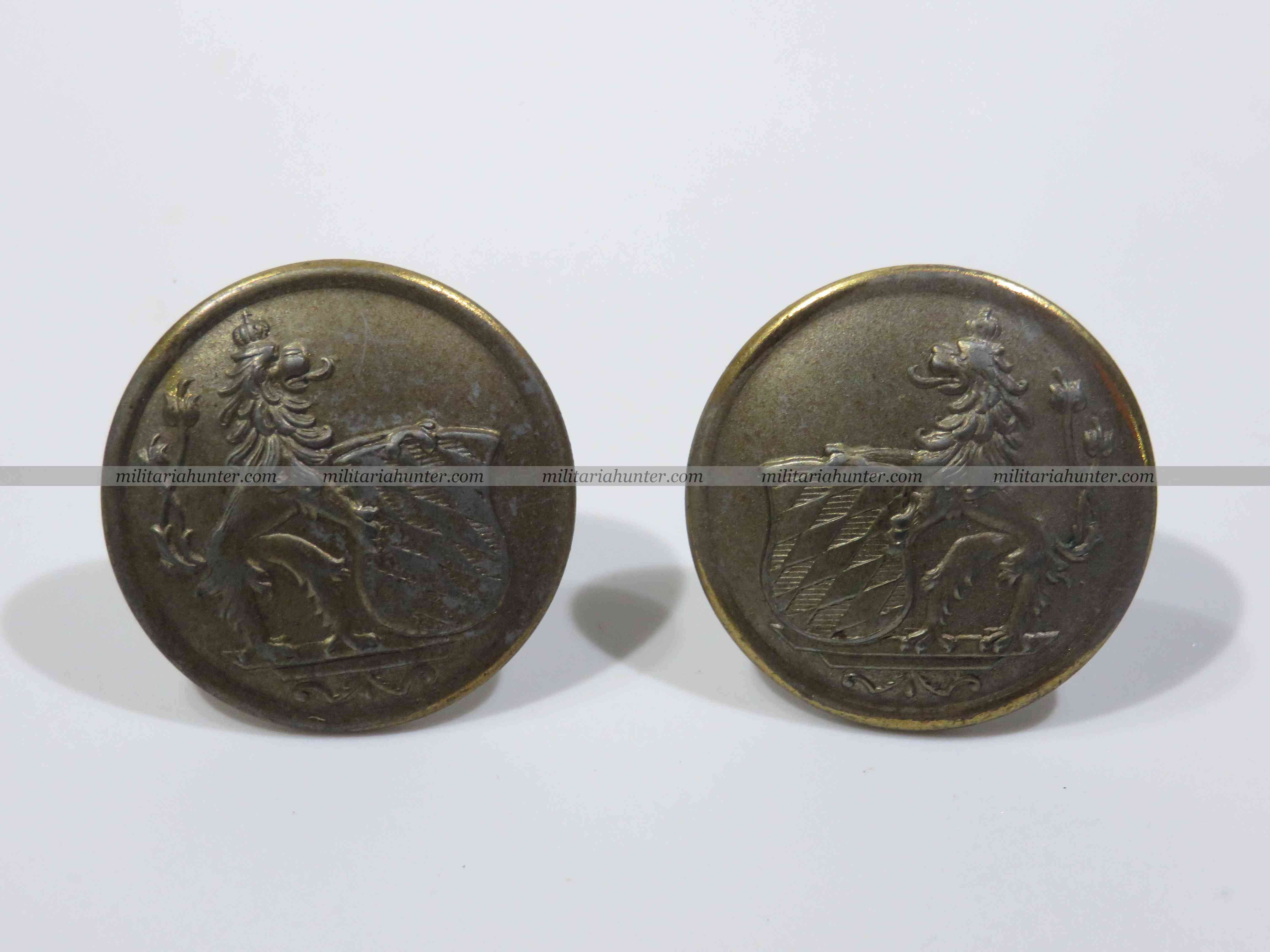 militaria : WW1 german bavarian Sergeanter collar insignia pair (1916 pattern)
