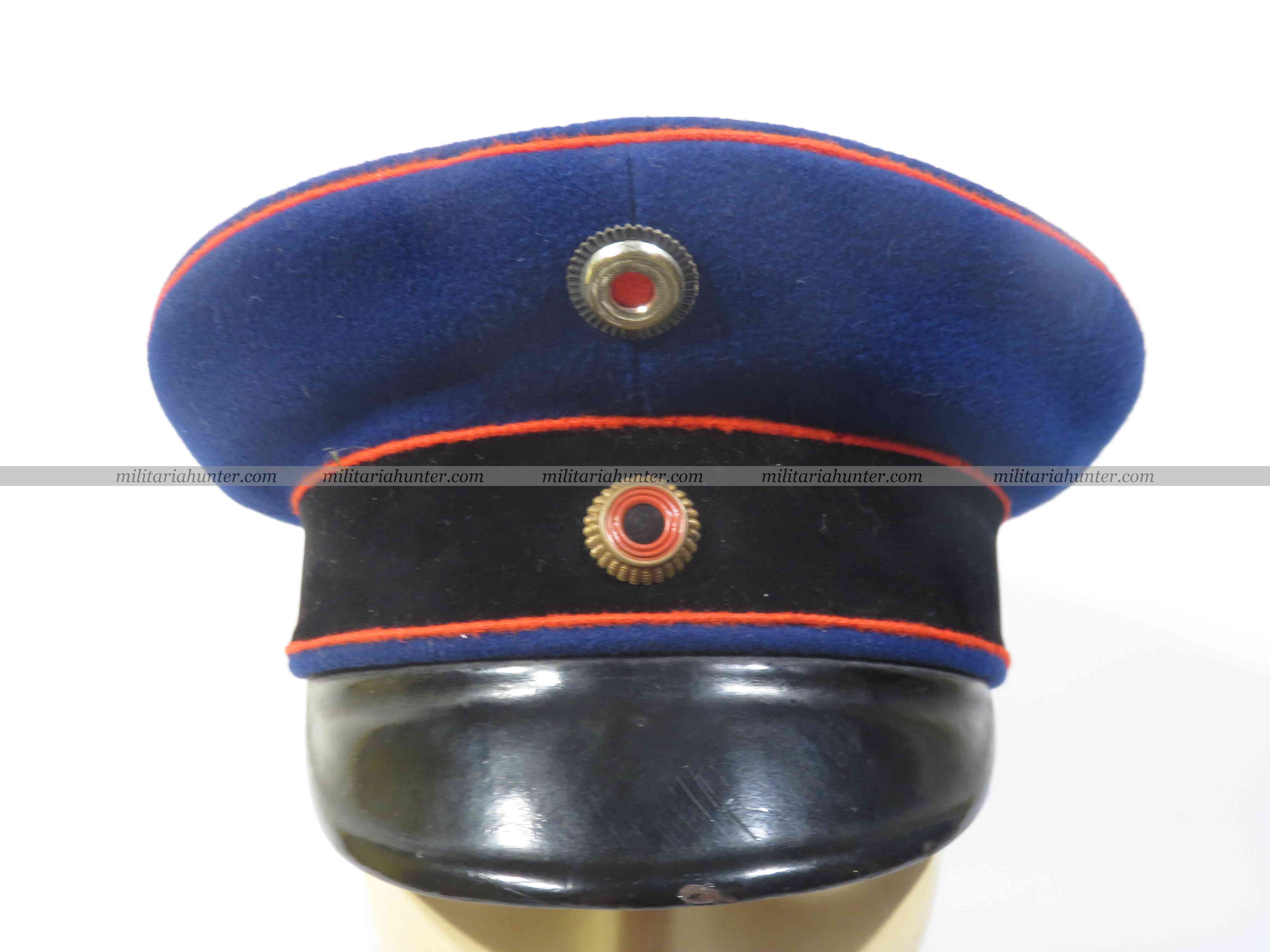 Militaria Hunter - Vente Militaria ww1 ww2 pre war Reuss or Waldeck officer visor cap - Offizier Schirmmütze