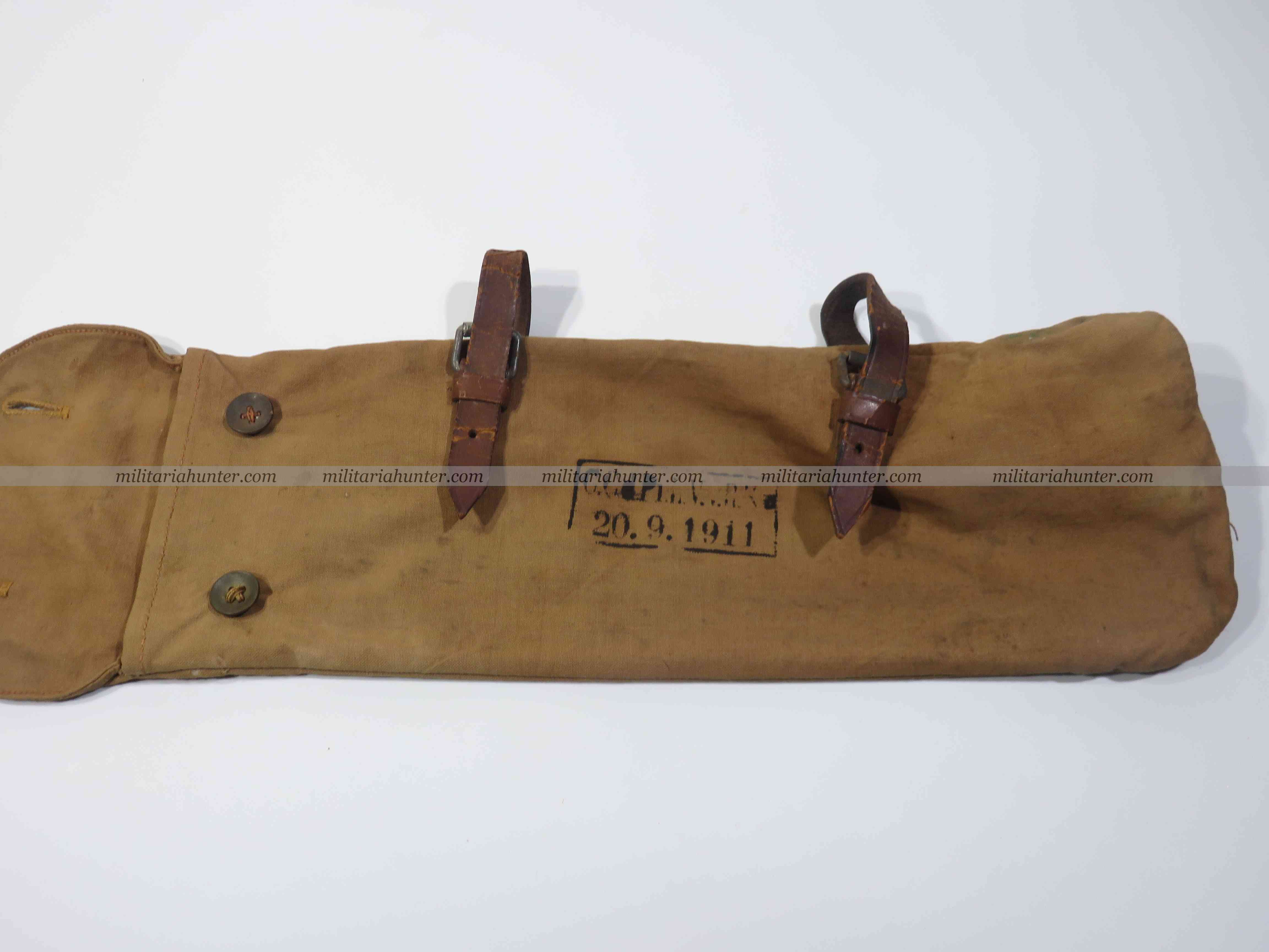 militaria : ww1 german red cross tent poles bag - housse piquets de tente Rotes Kreuz