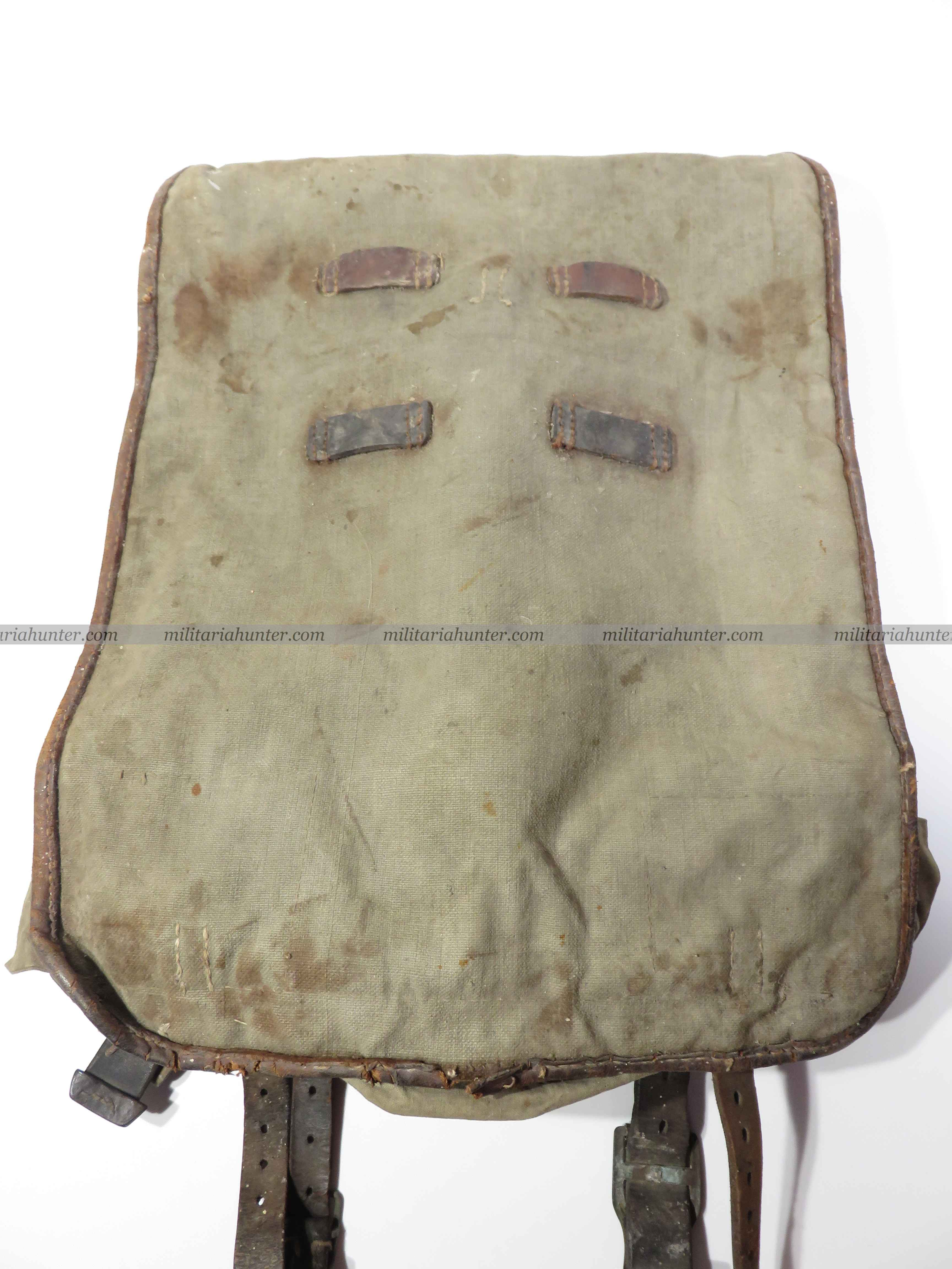 militaria : ww1 german backpack - Tornister allemand 19 Pionier Alsacien